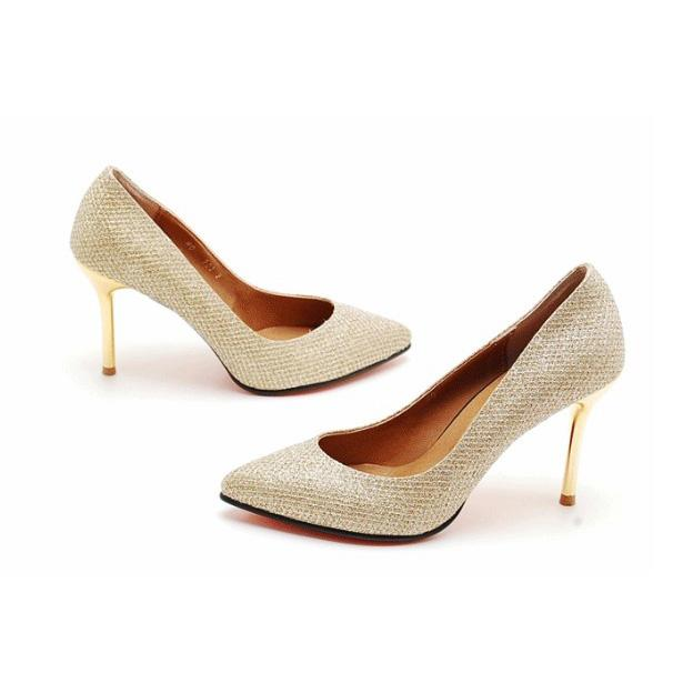 201305221802 Princess Genuine Leather High Heel Winter Korean Style 2013 Women Gold Wedding Shoes Bridal IDO0052 original img 13667040428913 1693