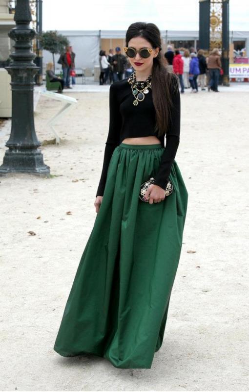 Cómo usar las faldas largas  - femeninas.com dfea5638cf94