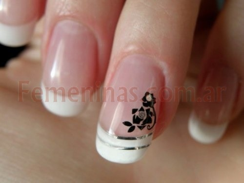Uñas decoradas sencillas