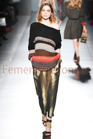 Sweater rayado pantalon tronasolado Etro