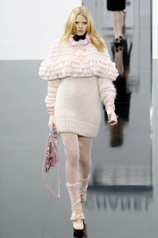 Sweater tejido lana con volumen en canesu Chanel