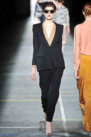 Traje smoking pantalon negro Dries Van Noten