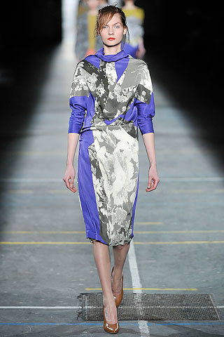Vestido saten estampado Dries Van Noten
