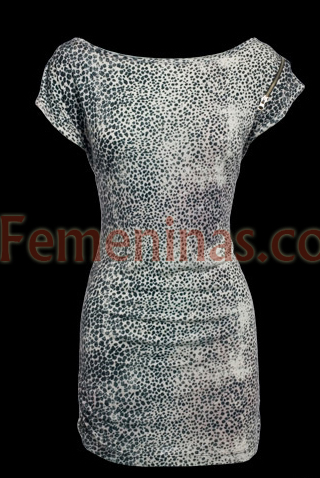 Stradivarius vestido animal print