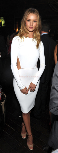Rosie Huntington-Whiteley vestida por Max Mara