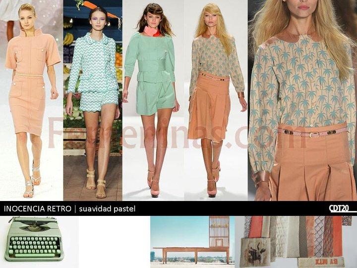 La paleta de colores para el verano 2013 se torna de colores pasteles rosas suaves y verdes agua