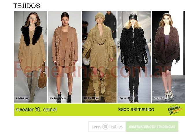 Tejidos Sweater XL color camel saco asimetrico
