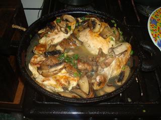 Pollo en salsa de champigniones y verdeo receta f cil for Cocinar con 20 soles