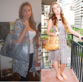 Look de tarde en tonos neutros antes y despues
