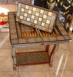 Mesa arabe para decoracion de ambientes al estilo de medio for Muebles estilo arabe