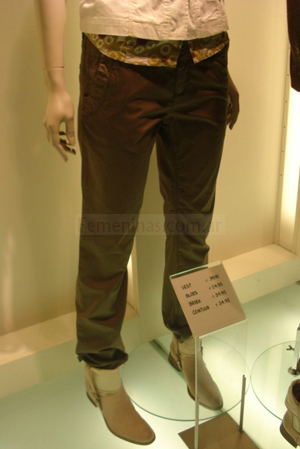 pantalon amberes marron chocolate