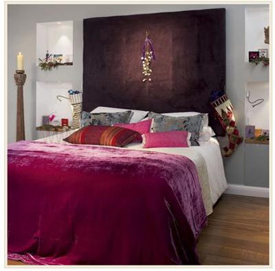 La magia de la navidad en la decoracion del dormitorio for Adornos de navidad para dormitorios