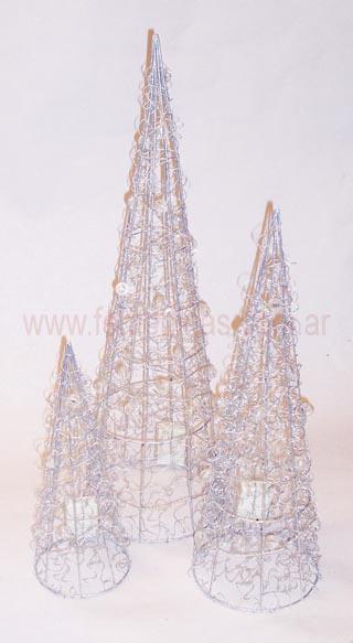 arbol navidad de decoracion de alambres