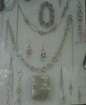 05752556a1dc Bijouterie diseños modernos en colgantes y pulseras plateadas