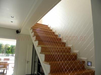 red de proteccin en escaleras