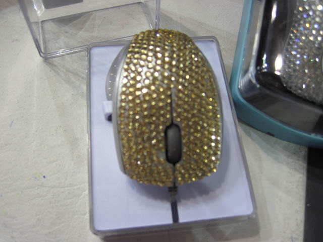 Mouse strass dorado ideal regalo para mujer