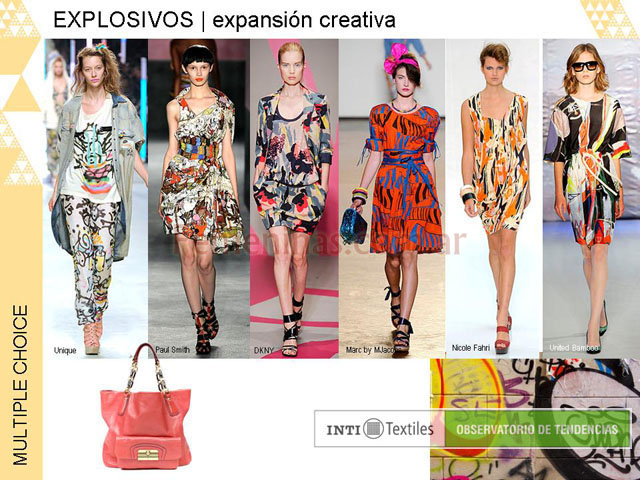 Explosivos expansion creativa estampados grafittis colores