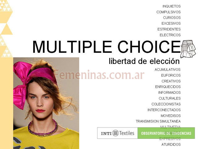Multiple choice libertad de eleccion