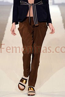Pantalon marron carrot Marni