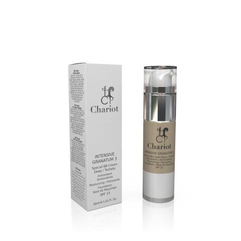 Chariot lanza BB Cream Intensive Granatum,con principios activos jamás antes utilizados con los que conseguir resultados óptimos