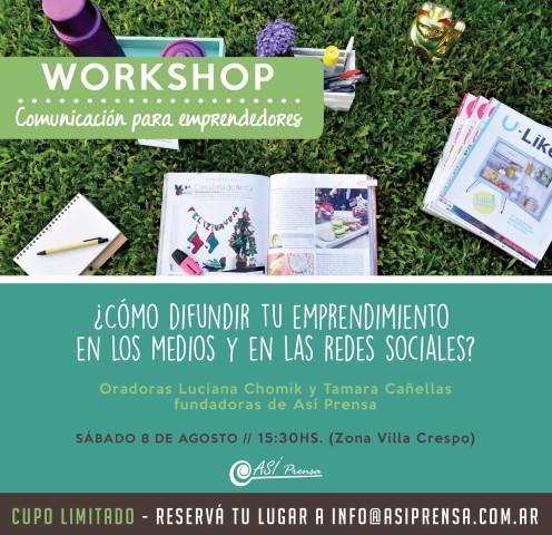 Workshop Gratuito sobre Prensa y Comunicación para Pymes y Emprendedores
